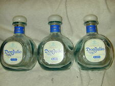 (50) DON JULIO 750ML BLANCO WHITE TEQUILA BOTTLES (EMPTY) NO/TOPS  USED RECYCLED