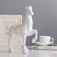 Sculpture Modern Abstract White Horse Statue Resin Ornaments Home Decoration