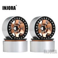 4PCS Metal 1.9 Beadlock Wheels for 1/10 RC SCX10 90046 AXI03007 TRX4 RedCat MST