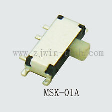 20pcs 7 Pin Mini Slide Switch On Off Smd Horizontal Miniature H15mm 1p2t