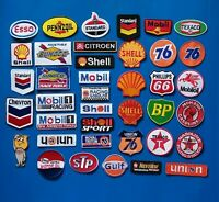 35 NEW RANDOM GAS/OIL Easy Sew/Iron On WHOLESALE 3 /4 Inch PATCHES