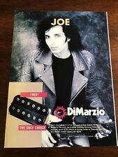 1990 VINTAGE 8X11 PHOTO PRINT Ad FOR DIMARZIO GUITARS JOE SATRIANI FRED PICKUPS