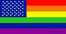 Rainbow Flag with Hearts Fridge Magnet LGBT Lesbian Gay Transgender Bisexual