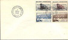 FSAT 1960 COVER BEARING 5F & 8F FUR SEAL, 10F & 15F ELEPHANT-SEAL