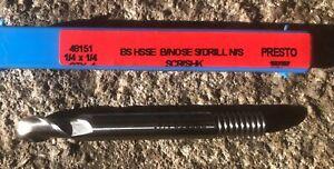 "Presto 1/4"" Ball Nose Slot drill NS.  Screwed shank. Brand new in Plastic Box"