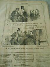 Caricature 1860 - Quartier latin Rue de la Harpe achete moi de suite 8 robes