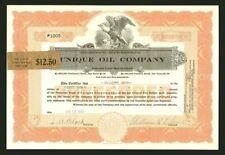Unique Oil Company 1925