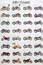 """BMW MOTORCYCLE """"BMW CLASSIC"""" POSTER - 24 Classic German Motorbikes & Cycles"""