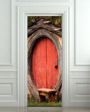 Door Wall or Fridge STICKER - hobbit decole mural poster cover wrap skin 30x79
