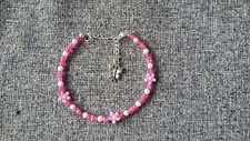 Handmade Ankle Bracelet Crackle Beads With Tibetan Spacers Chain Anklet