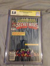 Marvel Super heroes Secret Wars #4 cgc 5.0 signed by Bob Layton 8/84