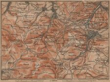 Friedrichroda & Thüringer Wald. Brotterode Großer inselsberg Turingia 1900 Mapa