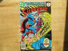1977 VINTAGE SUPERMAN # 312 SIGNED 2X JOSE GARCIA-LOPEZ & MARTY PASKO, WITH POA