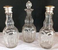 2 Saupoudreuses Cristallo + Boccetta Cristallo 19eme Cristallo Bottiglia