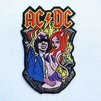 ACDC Hell Devil Lady Band Iron On Patch Embroidered Badge Rock Heavy Metal Music
