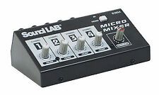 Soundlab 4 Channel Mono Microphone Mixer G105AA