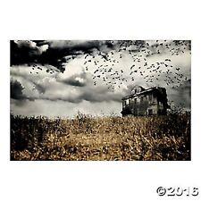Haunted Farmhouse Backdrop Banner Props Halloween NEW Haunted House Decor