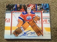 Anders Nilsson Autographed 8x10 Photo Edmonton Oilers NY Islanders Sweden