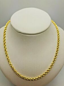 """9ct Yellow Gold Rope Chain - 3.0mm - 26"""" **** CHEAPEST ON EBAY ****"""