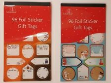 Gold Silver Rose Gold Foil Glitter Christmas Stickers Gift Tag Sticky Labels
