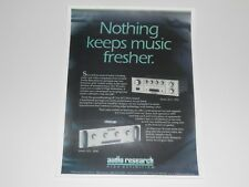 Audio Research SP-3, LS25 Audiophile Preamp Amp Ad 2000, 1 Page Article + Info