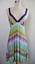 MISSONI Mare multi color zig zag knit cover up sun dress Italian size 40