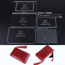 WUTA Women's Zipper Clutch Acrylic Leather Template Purse Pattern WT839