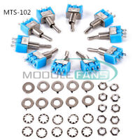2/5/10PCS Mini 6A 125VAC SPDT MTS-102 3 Pin 2 Position On-on Toggle Switches