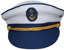 Nuevo barco barco Capitán Navy Mar Marinero Gorra Fancy Dress Skipper Marino Navy