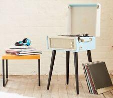 GPO BERMUDA Retro Record Player Vintage 60 s Classic Legs 3 Speed Turntable Blue
