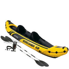 Intex Explorer K2 Kayak - Inflatable Raft w/ Bonus Paddles, Pump & Bag - 68307EP