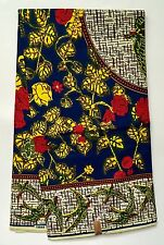 African Fabric, Ankara- Red, Blue, Yellow 'Victorian Afrique', By the Yard
