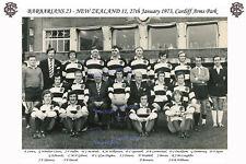 BARBARIANS v NEW ZEALAND ALL BLACKS 1973 TEAM PHOTO GARETH EDWARDS GREATEST TRY
