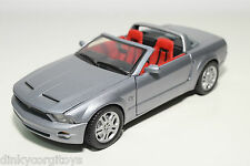 MOTORMAX MOTOR MAX FORD MUSTANG GT CABRIOLET METALLIC GREY NEAR MINT CONDITION