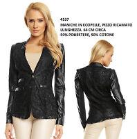 Giacca Elegante da Donna Blazer per Cerimonia Giubbino Business alla Moda Nuovo