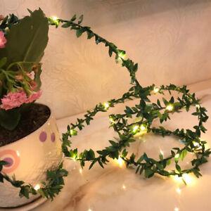 20/50LED Waterproof Leaf Garland Fairy String Light Battery Xmas Wedding Decor