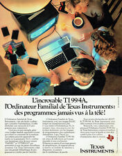 Publicité Advertising 097  1983  ordianteur familial TI99/4A  Texas Instruments