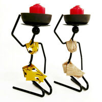 1Pc Iron Candlestick Exquisite Unique Creative Candle Holder for Home Restaurant