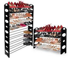 Oxgord Shoe Rack Para 50 Par De Pared De Bench Estante Closet Organizador Caja de almacenamiento Stand