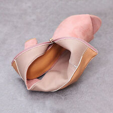 Womens High Block Heel Ankle Boots Peep Toe Shoes Sandals Casual Booties Prom