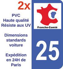 Sticker autocollant Adhésif département 25 Doubs immatriculation Franche Comté