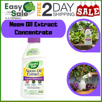 Ess Neem Oil Extract Concentrate Harvesting Insecticide Fungicide Water 16fl oz