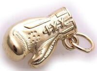 Neu Anhänger Boxhandschuh echt Gold 333 Gelbgold 8 karat Handschuh massiv Top