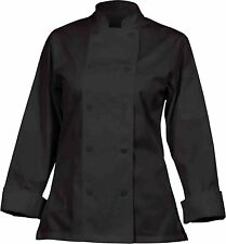 Chef Works Cwlj-Blk Women`s Executive Chef Coat, Black, Size S , New, Free Shipp