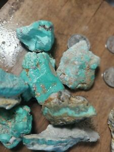 Broken Arrow turquoise..also a 85  gram nugget of blue moon  natural quality.