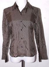 Ann Taylor Loft Womens Top Size 2 Button Down Geometric Silk Career Work Evening