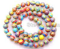 6mm Red Peacock Zebra Stripe Round Agate Beads Jewelry Making DIY Strands 15""