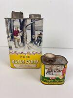 Set 2 Vintage Pure Maple Syrup Tins