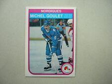 1982/83 O-PEE-CHEE NHL HOCKEY CARD #284 MICHEL GOULET NM SHARP!! 82/83 OPC