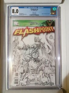 Flashpoint #2 (DC, 2011) CGC 8.0, 1 in 25 Andy Kubert's sketch variant cover
